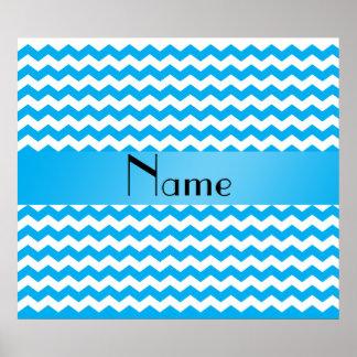 Galones azules conocidos personalizados póster