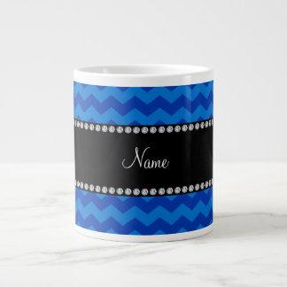 Galones azules conocidos personalizados taza extra grande