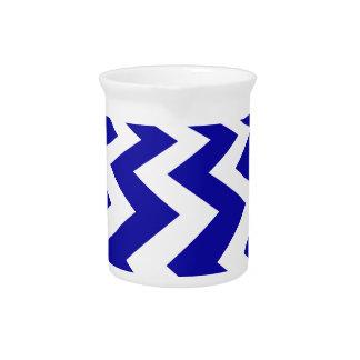 Galones azules y blancos jarras para bebida