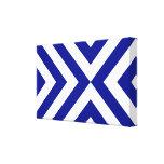 Galones azules y blancos impresiones en lienzo estiradas