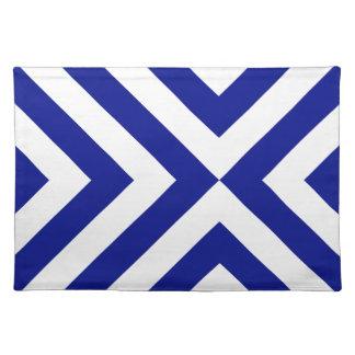 Galones azules y blancos mantel individual