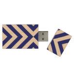 Galones azules y blancos memoria USB 3.0 de madera