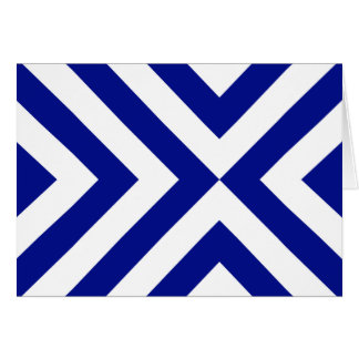 Galones azules y blancos tarjeta de felicitación