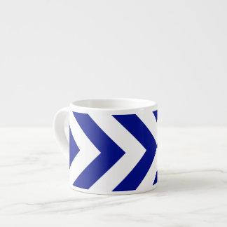 Galones azules y blancos taza espresso