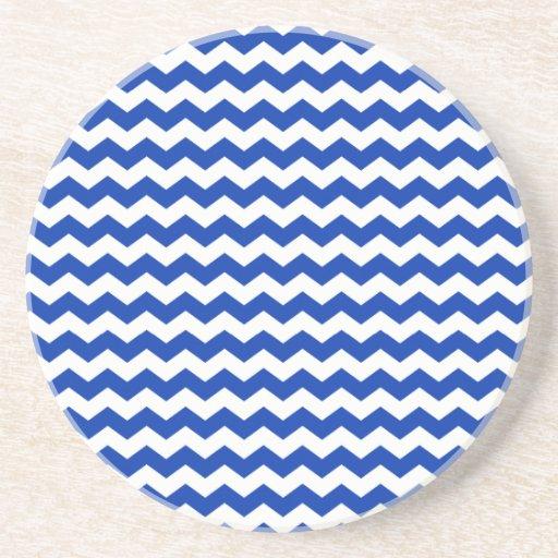 Galones blancos azules posavasos diseño