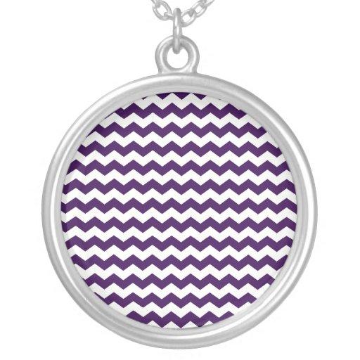 Galones blancos púrpuras colgante redondo