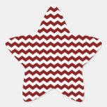Galones blancos rojos pegatina en forma de estrella