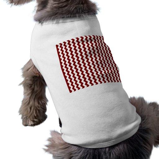 Galones blancos rojos ropa perro