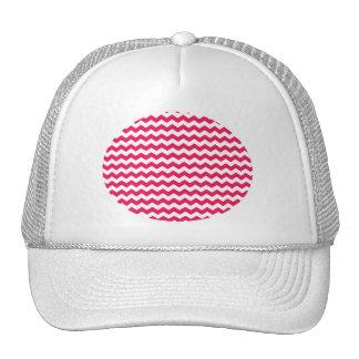 Galones blancos rosados gorro de camionero