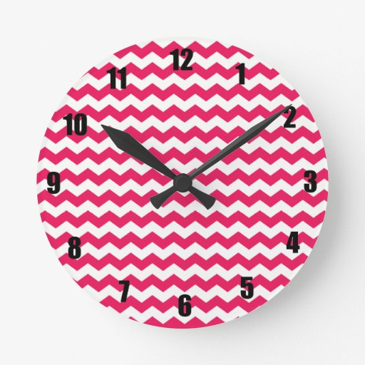 Galones blancos rosados reloj de pared