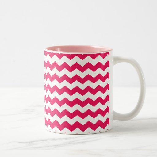 Galones blancos rosados tazas