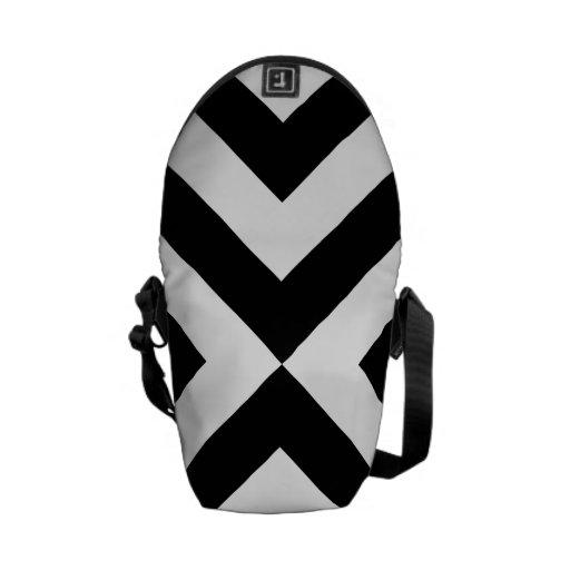Galones blancos y negros bolsa de mensajeria