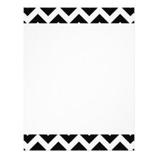 Galones blancos y negros grandes modernos de tarjeta publicitaria