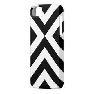 Galones blancos y negros iPhone 5 fundas