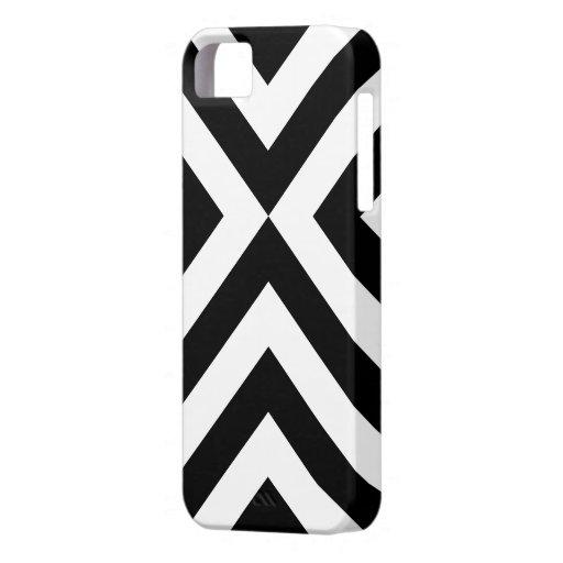 Galones blancos y negros iPhone 5 fundas