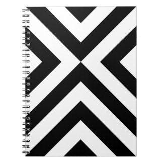 Galones blancos y negros libreta espiral