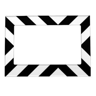 Galones blancos y negros marcos magnéticos para fotos