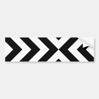 Galones blancos y negros pegatina de parachoque