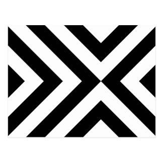 Galones blancos y negros postal