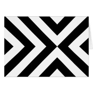 Galones blancos y negros tarjeta de felicitación