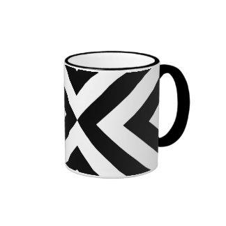 Galones blancos y negros taza de dos colores