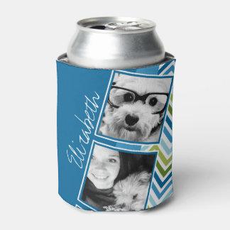 Galones coloridos del collage de la foto de enfriador de latas