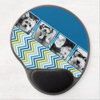 Galones coloridos del collage de la foto de Instag Alfombrilla Con Gel