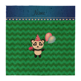 Galones conocidos de encargo del verde de la panda posavasos