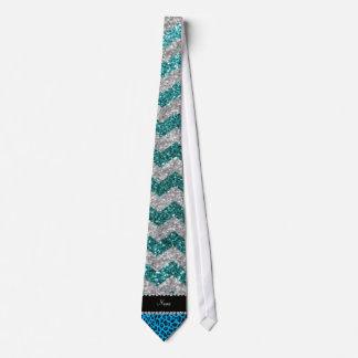 Galones conocidos del brillo de la turquesa del le corbata