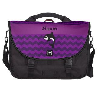 Galones conocidos personalizados de la púrpura de bolsas de ordenador