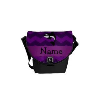 Galones conocidos personalizados de la púrpura de bolsas messenger