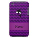 Galones conocidos personalizados de la púrpura de  barely there iPod cárcasa