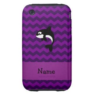 Galones conocidos personalizados de la púrpura de  iPhone 3 tough cobertura