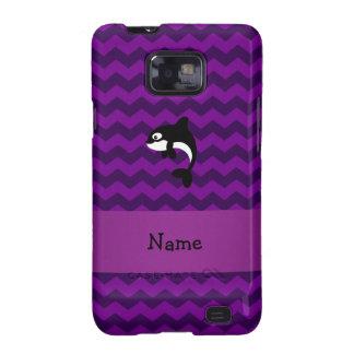 Galones conocidos personalizados de la púrpura de galaxy SII funda
