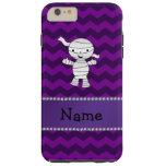 Galones conocidos personalizados de la púrpura de funda de iPhone 6 plus tough