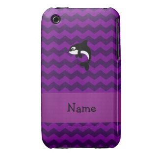 Galones conocidos personalizados de la púrpura de  Case-Mate iPhone 3 carcasa
