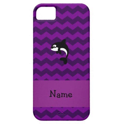 Galones conocidos personalizados de la púrpura de funda para iPhone 5 barely there