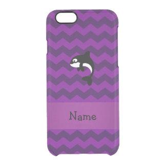 Galones conocidos personalizados de la púrpura de funda clearly™ deflector para iPhone 6 de uncommon