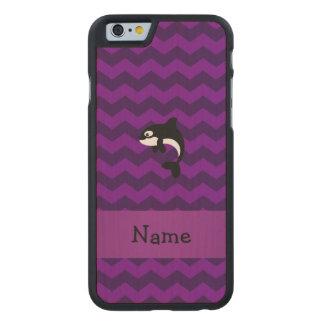 Galones conocidos personalizados de la púrpura de funda de iPhone 6 carved® slim de arce
