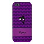 Galones conocidos personalizados de la púrpura de  iPhone 5 cobertura