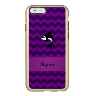 Galones conocidos personalizados de la púrpura de funda para iPhone 6 plus incipio feather shine
