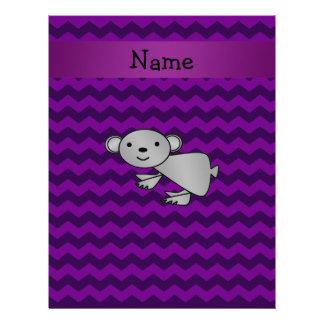 Galones conocidos personalizados de la púrpura de plantilla de membrete