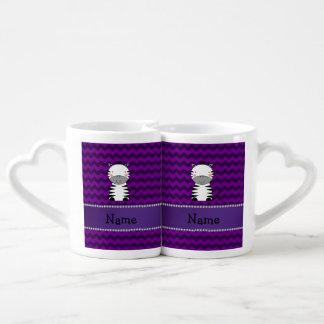 Galones conocidos personalizados de la púrpura de tazas amorosas