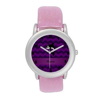 Galones conocidos personalizados de la púrpura de relojes de mano