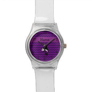 Galones conocidos personalizados de la púrpura de relojes de pulsera
