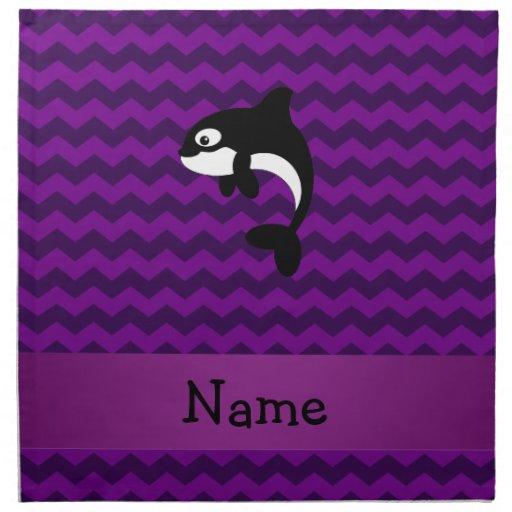 Galones conocidos personalizados de la púrpura de  servilleta de papel