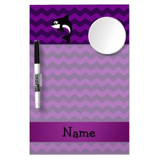 Galones conocidos personalizados de la púrpura de tableros blancos