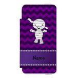 Galones conocidos personalizados de la púrpura de funda cartera para iPhone 5 watson