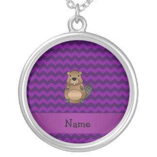 Galones conocidos personalizados de la púrpura del collar personalizado