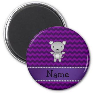 Galones conocidos personalizados de la púrpura del imanes para frigoríficos